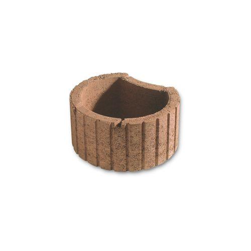 Bac à fleur Coeck Mini béton 35x28x20cm brun 45pcs + palette 3004837