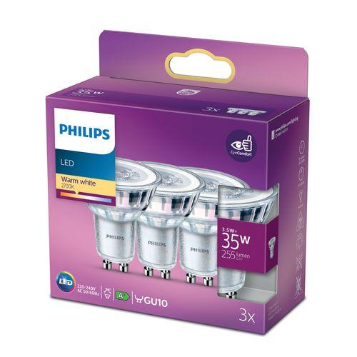 Philips LED-spot GU10 3,5W warm wit
