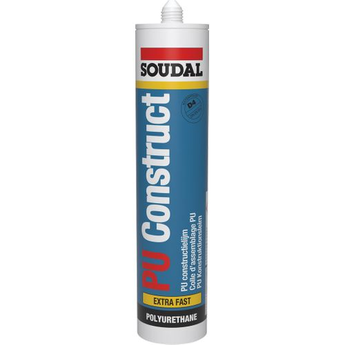 Colle d'assemblage PU Soudal PU Construct Extra Fast 310ml