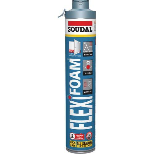 Mousse PU auto-expensive Soudal Flexifoam C&F bleu 750ml