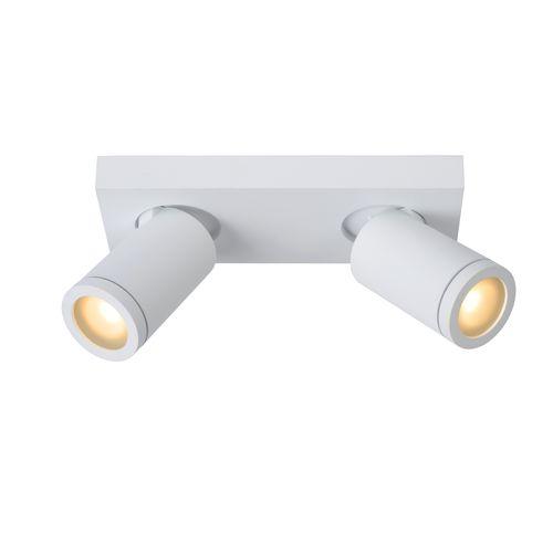 Spot LED Lucide Taylor blanc 2x5W