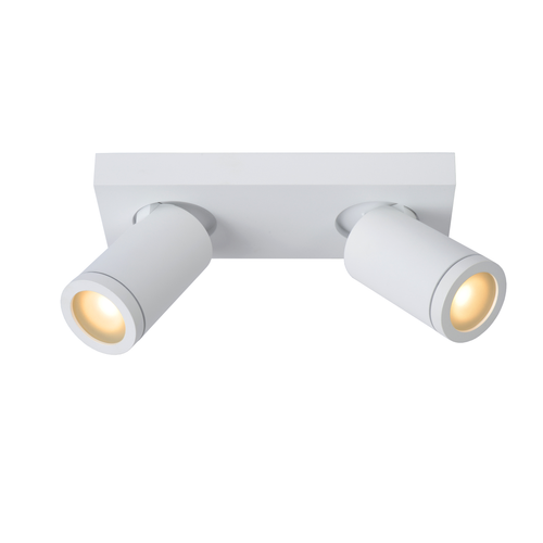 Spot LED Lucide Taylor blanc 2x5W