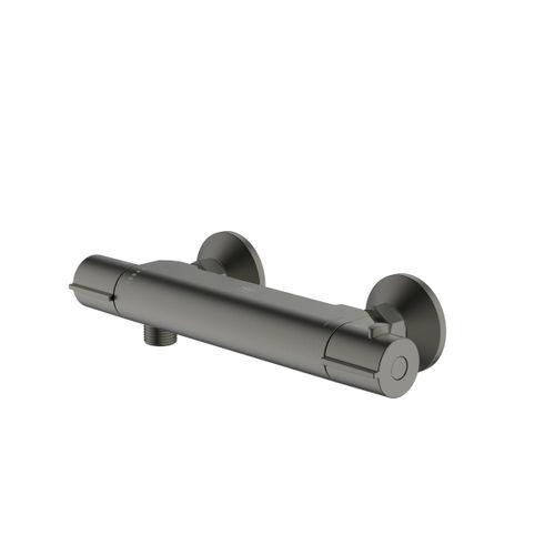 AquaVive thermostatische douchekraan Nilson gun metal 15cm