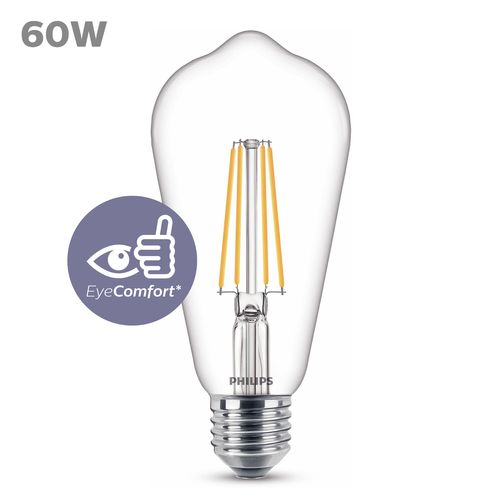 Philips LED lichtbron E27 7W warm wit
