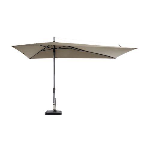 Madison parasol Topline Asymmetric Sideway taupe 220x360cm