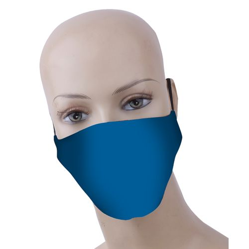 Busters wasbaar mondmasker polyester/katoen blauw – 3 stuks