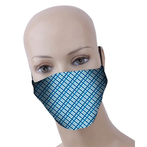Busters wasbaar mondmasker polyester/katoen vichy – 3 stuks
