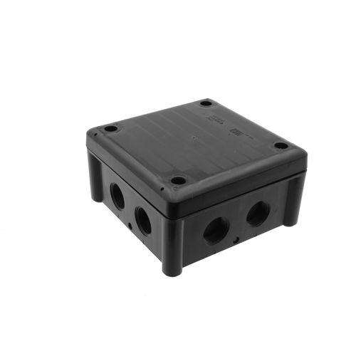 Kopp kabeldoos IP65 110x110x40mm + 3 M20 wartels zwart