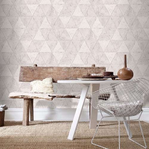 Vliesbehang driehoeken grijs IF3101