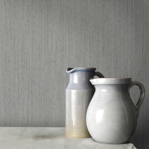 Papier peint intissé uni gris 68728