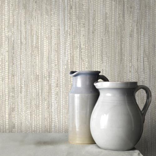 Vliesbehang textuur en streep beige G67961