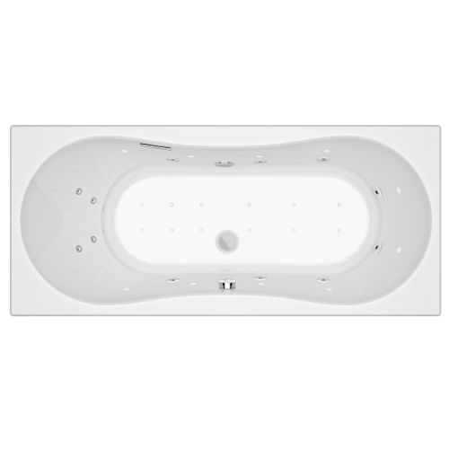 Allibert bubbelbad Intensea Inoa 180x80cm wit