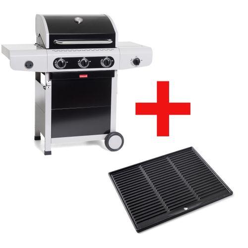 Barbecook gasbarbecue + plancha Siësta310 zwart 12kW