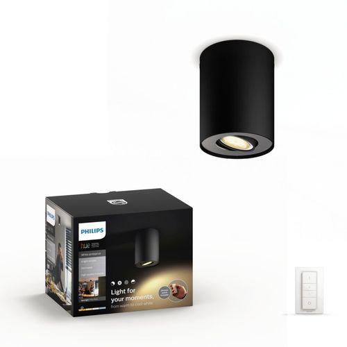 Philips Hue Pillar opbouwspot inclusief dimmer switch zwart warm tot koelwit 5,5W
