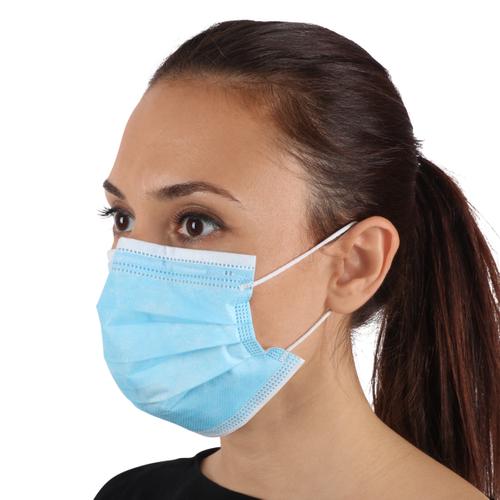 Masque de protection avec élastique jetable – 50 pcs