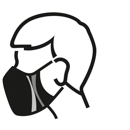 Masque lavable Busters Boy polyester / coton - 3 pièces