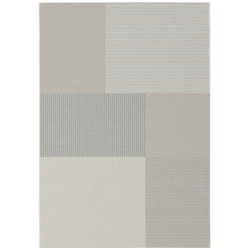 Tapis Nouk patch gris 160x230cm
