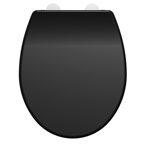 Allibert toiletzitting Dolceo thermoplast zwart mat