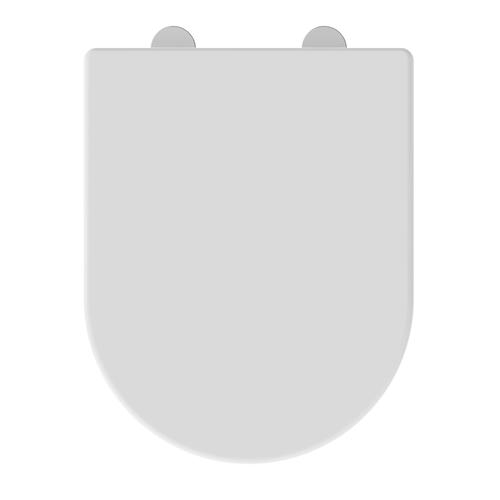 Allibert toiletzitting Kobeo D-vorm thermoplast wit