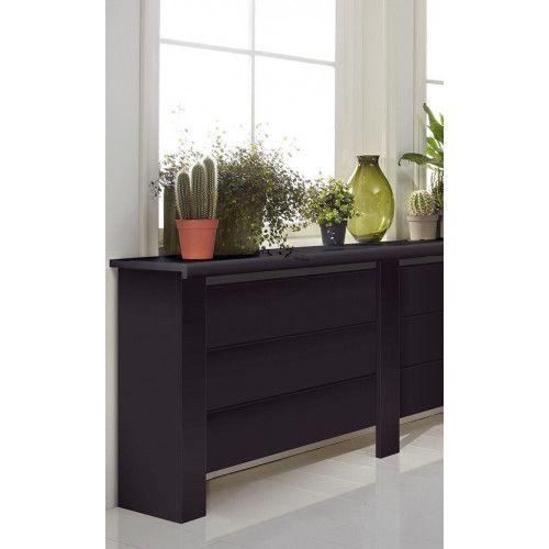 CanDo Mix & Match radiatorbekleding zwart 100x20cm