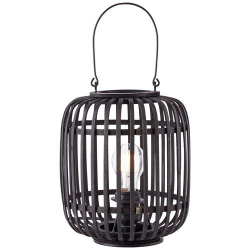 Brilliant tafellamp Woodrow bamboo zwart E27