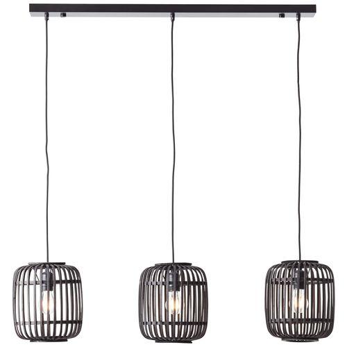 Brilliant hanglamp Woodrow zwart 3xE27