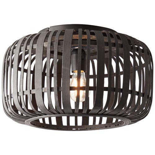 Brilliant plafondlamp Woodrow zwart E27