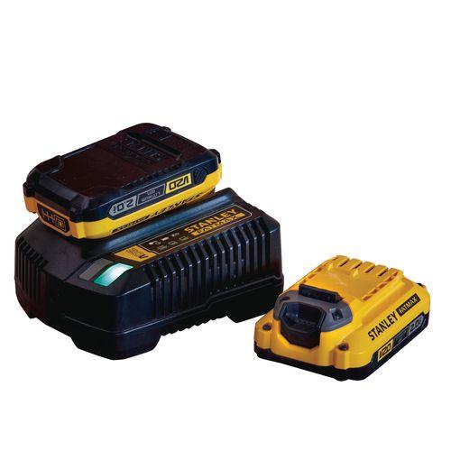 Batterie Stanley Fatmax + chargeur de batterie SFMCB12D2-QW 18V 2Ah