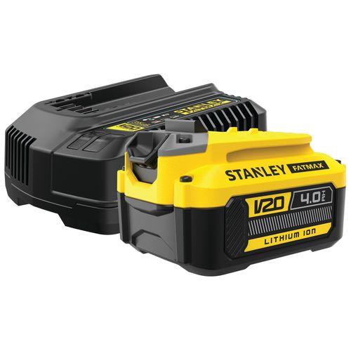Batterie Stanley Fatmax + chargeur de batterie SFMCB14M1-QW 18V 4Ah
