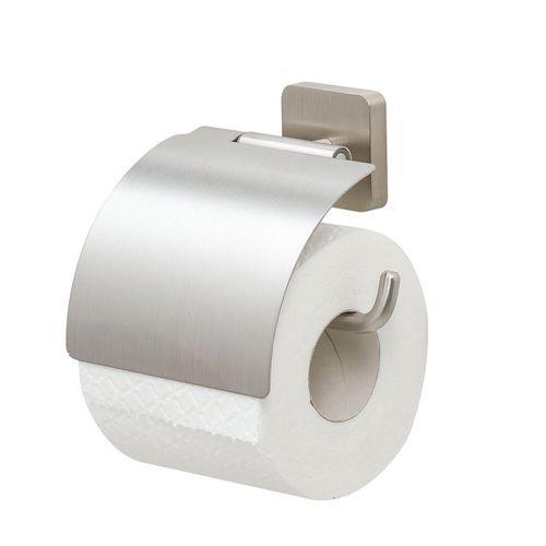 Porte-rouleau de papier toilette avec couvercle Tiger Onu acier inoxydable brossé