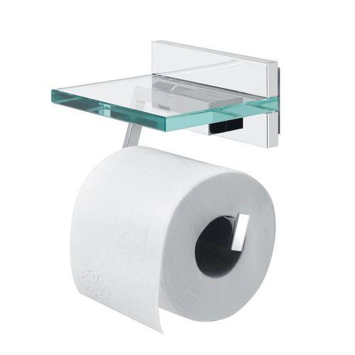 Porte-rouleau de papier toilette avec couvercle Safira chrome
