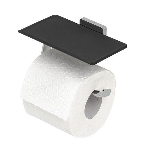Porte-rouleau de papier toilette avec tablette Tiger Dock acier inoxydable brossé