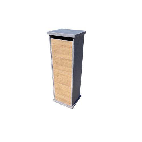 Boîte aux lettres VASP Lhotse Parcel Woodlook bois fermeture digitale