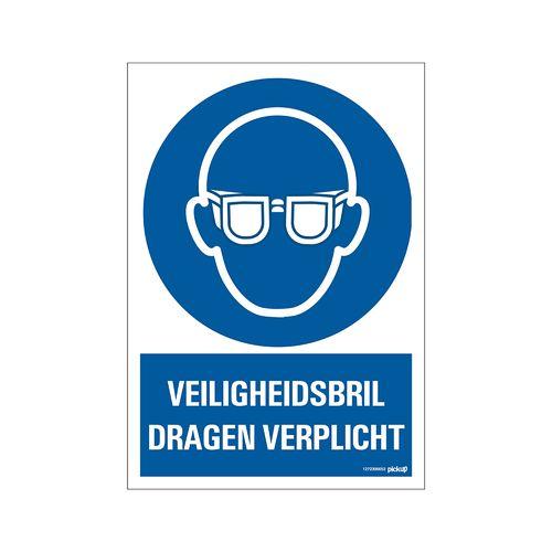Pickup Bord  Veiligheidsbril verplicht 23x33cm blauw