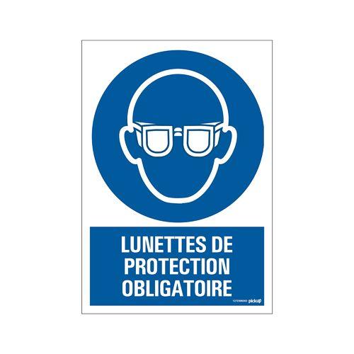 Pickup Bord  Lunettes de protection obligatoires 23x33cm blauw