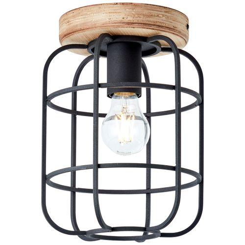 Brilliant plafondlamp Gwen zwart E27