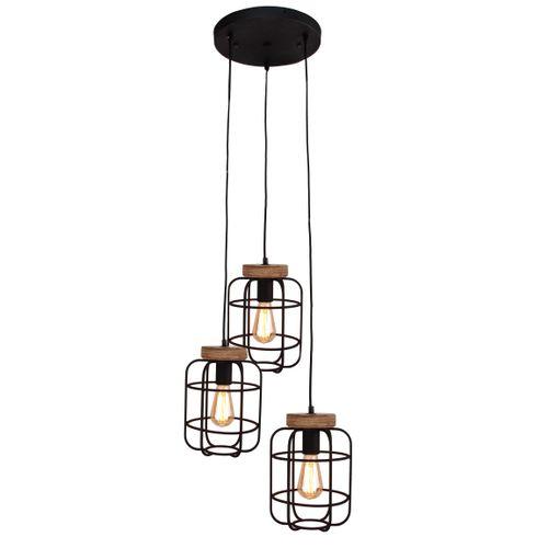 Brilliant hanglamp Gwen zwart 3xE27