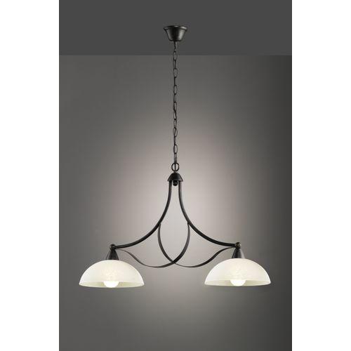 Fischer & Honsel hanglamp Pueblo bruin 2xE27