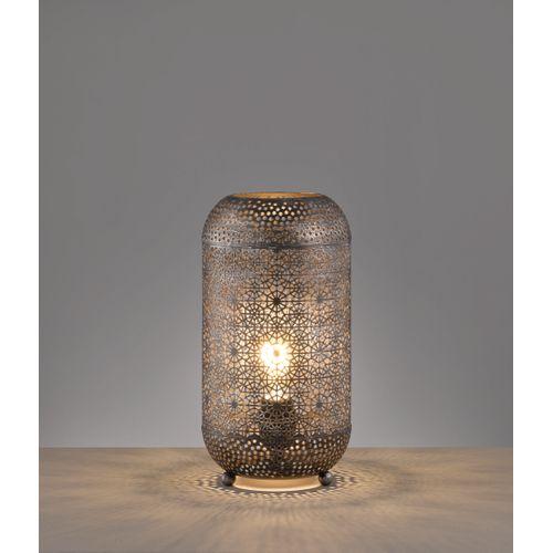 Lampe à poser Fischer & Honsel Velvet argent E27