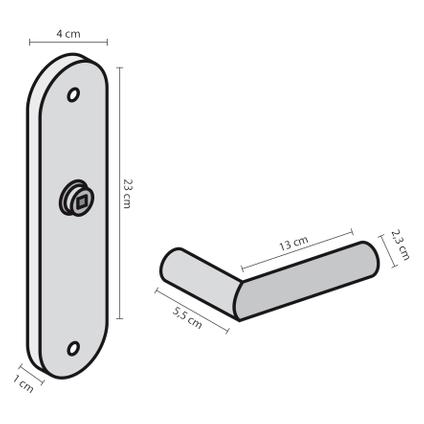 Poignée de porte Impresso Redhill avec entrée de clé noir
