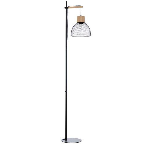 Seynave vloerlamp Bedwood zwart hout E27