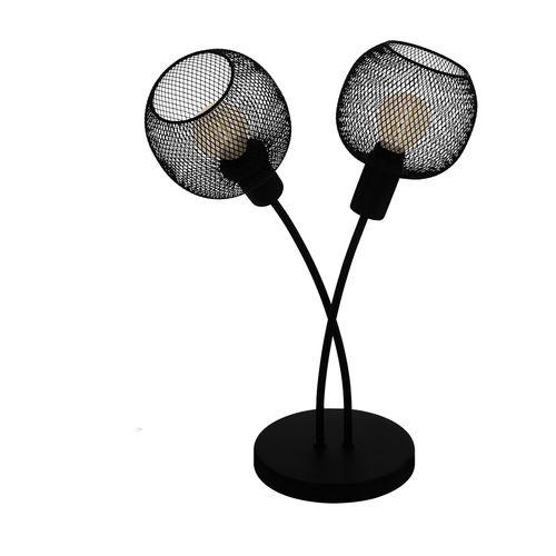 EGLO tafellamp Wrington 1 zwart 2xE14