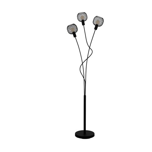 EGLO vloerlamp Wrington 1 zwart 3xE14