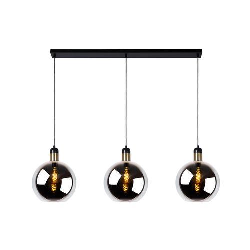 Lucide hanglamp Julius grijs goud 3xE27