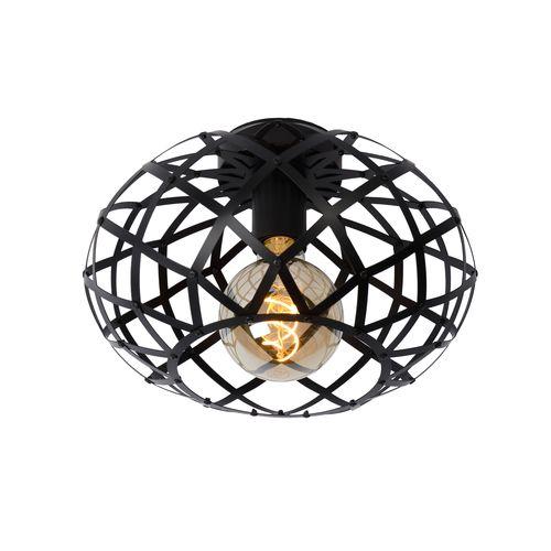 Lucide plafondlamp Wolfram zwart E27