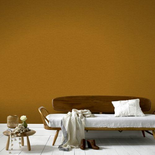 Sublime papier peint intissé Textile uni ochre