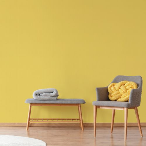 Decomode papier peint intissé Basic glitter bright jaune