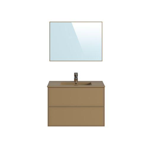Meuble de salle de bains T-Bath Superline mélamine laqué beige capuccino mat 80cm