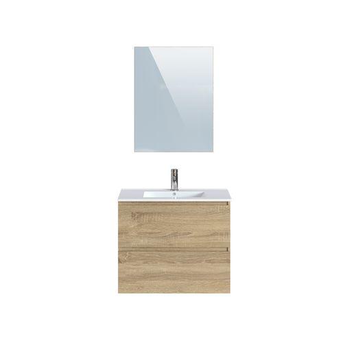 Meuble de salle de bains T-Bath Mystic en mélamine chêne clair 80cm