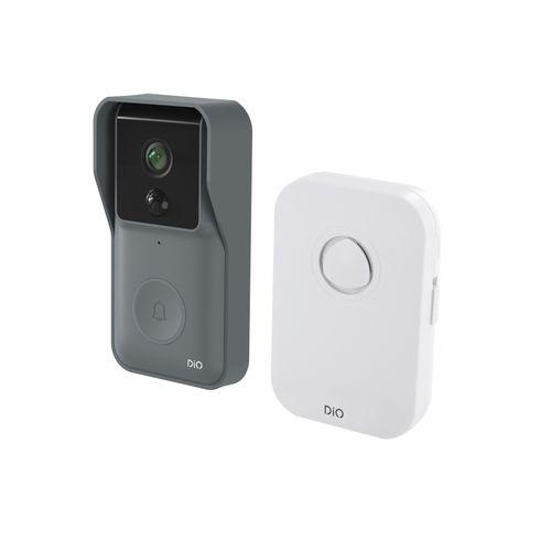 DiO connected deurbel met foto-opname en draadloze gong